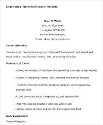 resume objective for engineering internships resume sle engineering internship resume for help with college