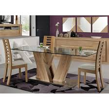 Glass Dining Table For 6 Season Glass Top 6 Seater Dining Table With Season Chairs