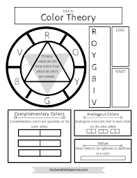 free color wheel u0026 color theory printable the kitchen table