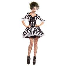 Black White Striped Halloween Costume Bug Juice Beetlejuice Black White Striped Dress Womens