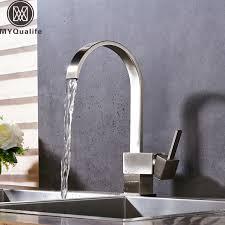 robinet cuisine moderne moderne 360 rotation cascade cuisine robinet mitigeur nickel