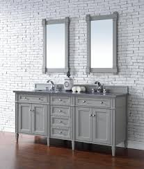 contemporary 72 inch double sink bathroom vanity gray finish no top