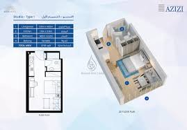 aura studio apartment type 1 floor plan
