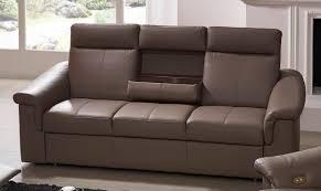 canapé en cuir 3 places cuir 3 places tablette rabattable johnjohn
