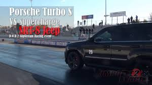 turbo jeep cherokee amazing drag race jeep grand cherokee vs porsche 911 turbo s
