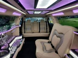 limousine hummer inside lincoln continental black 140 inch limousine