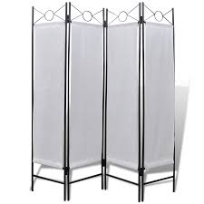 privacy room dividers 4 panel room divider privacy folding screen white 5 u0027 3