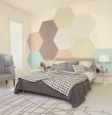 wandgestaltung mit farbe muster wandgestaltung im schlafzimmer geometrische motive an die wand