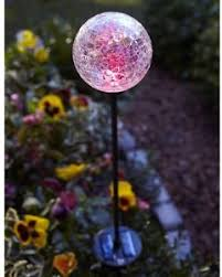 color changing outdoor lights outdoor light solar powered led color changing crackle glass globe
