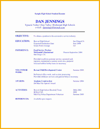 Good Resume Examples For Highschool Students by 10 Resume Examples For Highschool Students Data Analyst Resumes