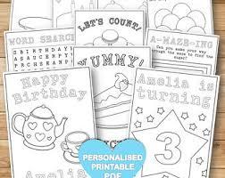 customised coloring u0026 activity book kids girls mermaid