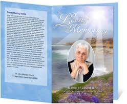 Programs For Funeral Services Funeral Programs Funeral Handouts Programs For Funerals