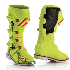yellow motocross boots acerbis x pro v off road boots fluo yellow black