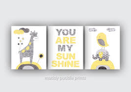 Gray And Yellow Nursery Decor Yellow Grey Nursery Decor Nursery Print Nursery Yellow