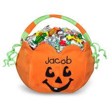 pumpkin embroidered plush treat pail buycostumes com