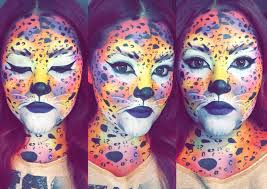 frank halloween mask lisa frank neon cheetah halloween makeup youtube