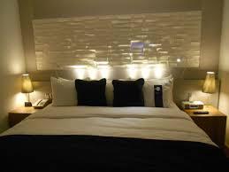 Bedroom  Bedroom Designer Gray Fabric Tufted Headboard With Cool - Bedroom headboards designs