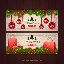 christmas sale banners vector free download