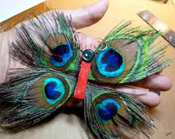 funky peacock feather butterfly ornament allfreechristmascrafts com