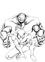 spiderman 3 venom coloring pages venom coloring pages comic book