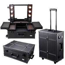 portable light for makeup artist aw black rolling studio makeup artist pvc cosmetic 15x8x19 case w