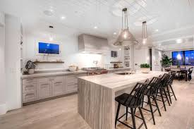 White Washed Oak Kitchen Cabinets Contemporary Kitchen With Hardwood Floors U0026 Custom Hood In