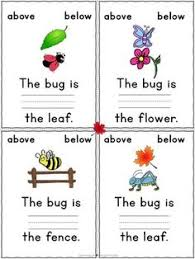 positional words cut and follow the directions for where to paste