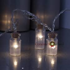 novelty glass jar mini battle led string lights with 20 led