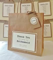 bridesmaid gift bag personalised bridesmaid thank you gift bag 100 by ecochicoccasions