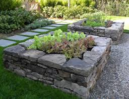 i planned on making a raised bed out of cedar but this stone is