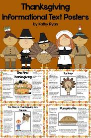 thanksgiving informational text posters and coloring book venn