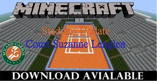 minecraft sports stadium court suzanne lenglen tennis stadium in minecraft youtube