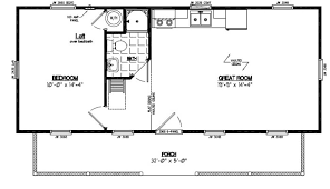 Surprising Design Ideas 16 X 30 Cabin Floor Plans 6 Housefloorhome 32 X 30 House Plans