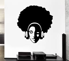 amazon com wall stickers vinyl decal hippie with afro in