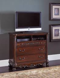 Bedroom Set With Media Chest Dallas Designer Furniture Deryn Park Bedroom Set With Poster Bed