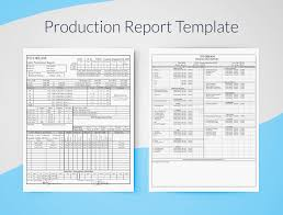 report template production report template for excel free sethero