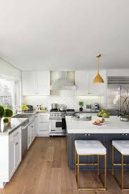 kitchen beautiful white cabinets light floors modern white