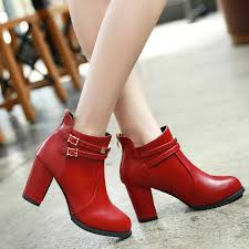 motorcycle boots buckle aliexpress com buy haiou 2017 new red shoes platform thick high