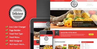 themes wordpress restaurant free delicieux restaurant wordpress theme by goodlayers themeforest
