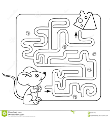 kids mazes mouse and the apple coloring page olegandreev me