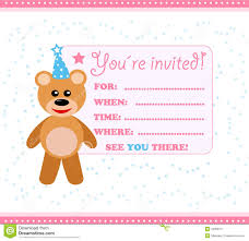 Designing Invitation Cards Teddy Design Party Invitation Card Perfect Ideas White Concrete