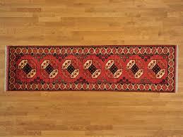 10 Runner Rug 3 U0027 X 10 U0027 Runner Red Afghan Ersari 100 Wool Hand Knotted Oriental
