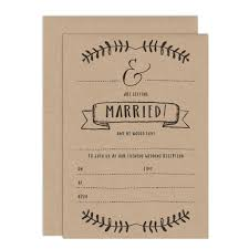 wedding reception invitation kraft write your own evening wedding reception invitation russet