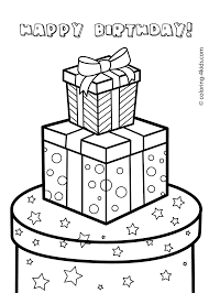 gift boxes for birthday happy birthday coloring pages for kids