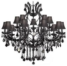 Chandelier With Black Shades Jet Black Chandelier Crystal With Black Shades Traditional