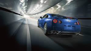 Nissan Gtr Blue - blue nissan gt r goes fast on the road wallpaper 3536 on