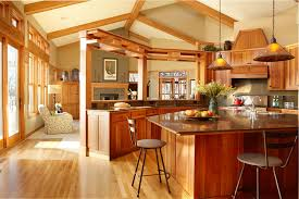 Kitchen And Living Room Design Arts U0026 Crafts Interior Design Designshuffle Blog