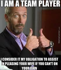 Team Meme - i am a team player by giggly meme center