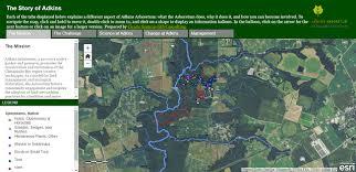 adkins arboretum resources native plant database