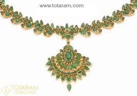 emerald gold necklace images 22 karat gold emerald necklace drop earrings set jpg